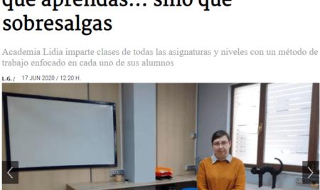 Academia Lidia en La Gaceta