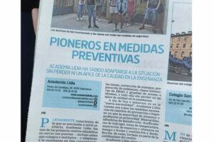 Academia en Salamanca con medidas preventivas