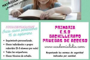 inicio clases particulares septiembre 2020