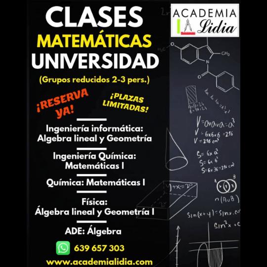 clases matemáticas universidad