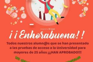 pruebas acceso universidad mayores 25 años Salamanca